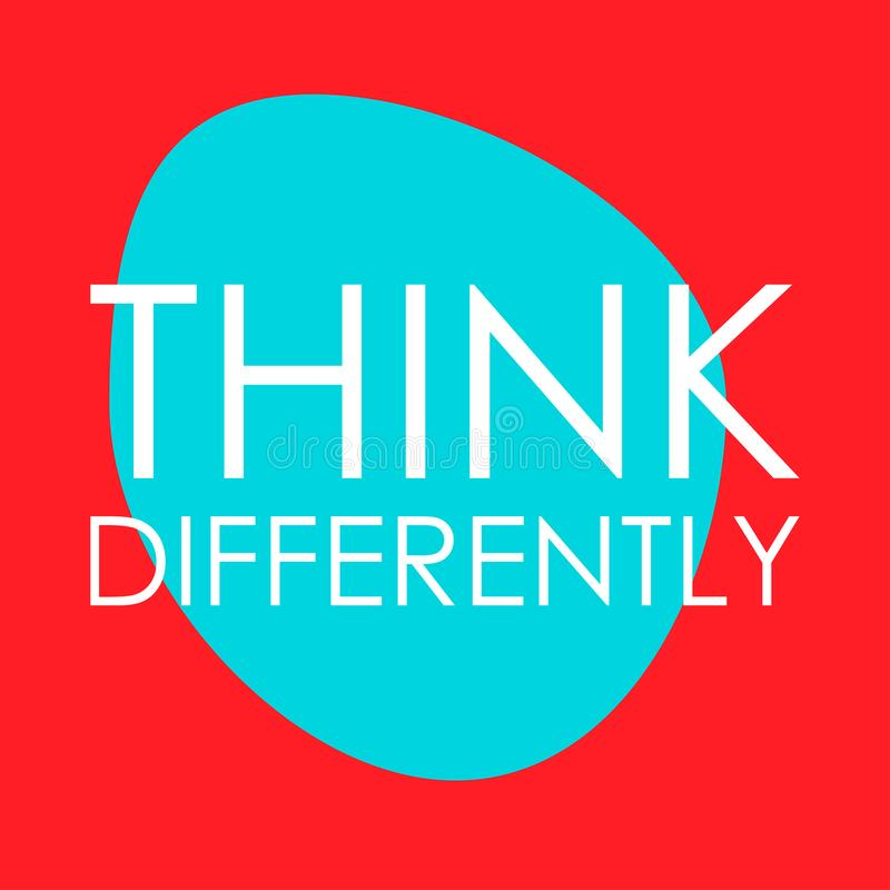 Think differently vector illustration
