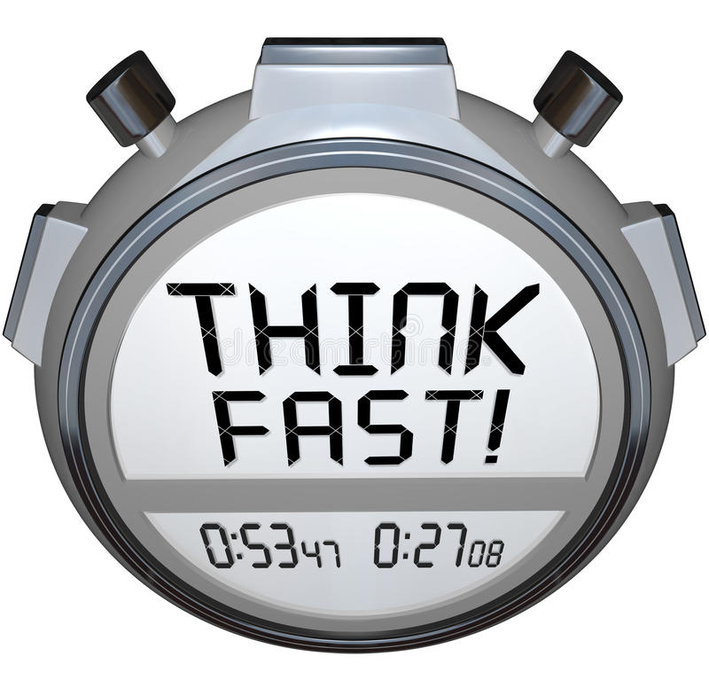Download Think Fast Timer Stopwatch Quiz Answer Contest Stock Illustration - Image: 31478179