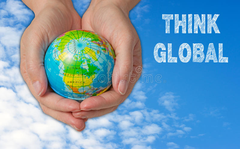 Think global royalty free stock photo