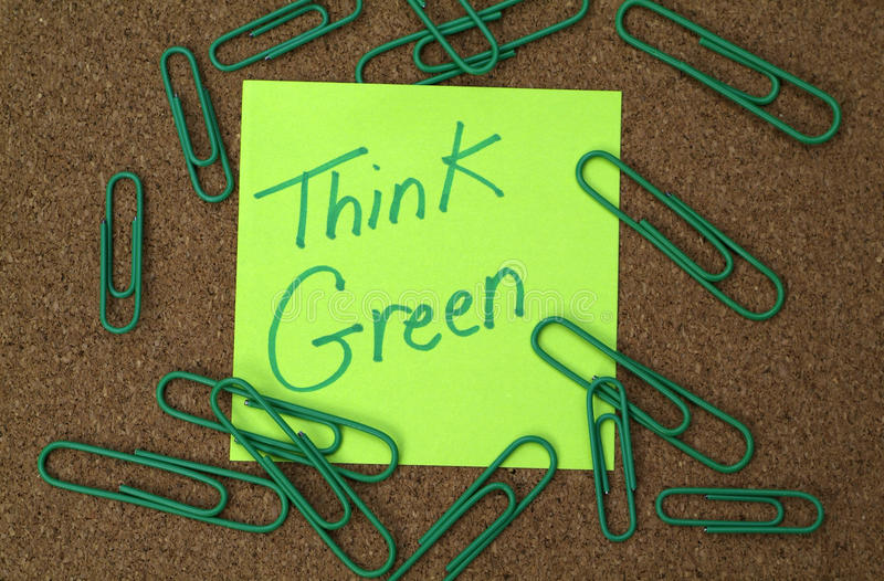 Think green office royalty free stock photos