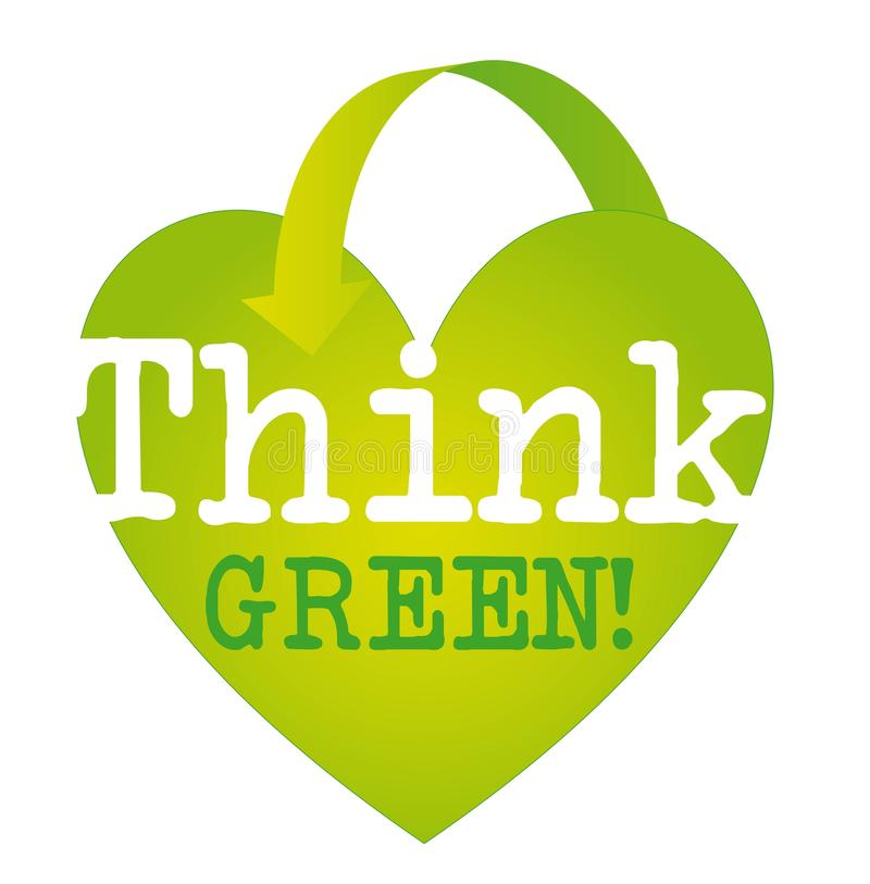 Download Think green stock vector. Illustration of heart, clean - 22053538