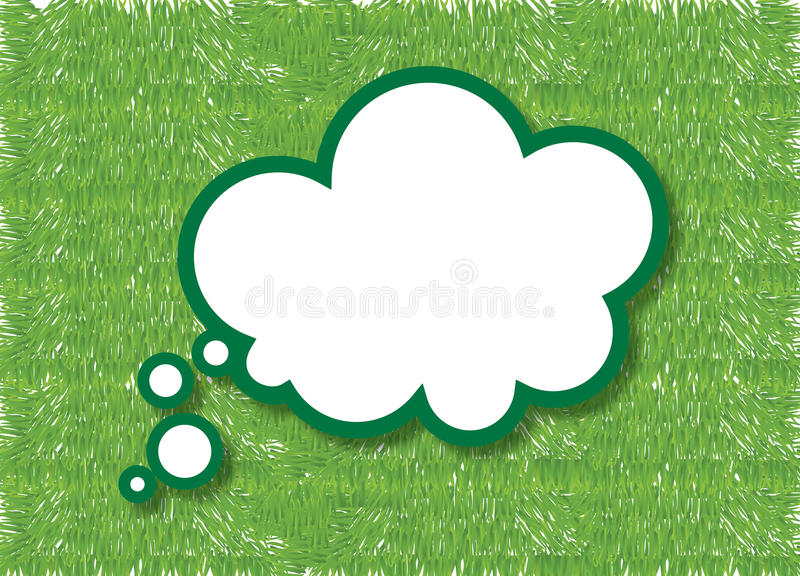 Think green royalty free illustration
