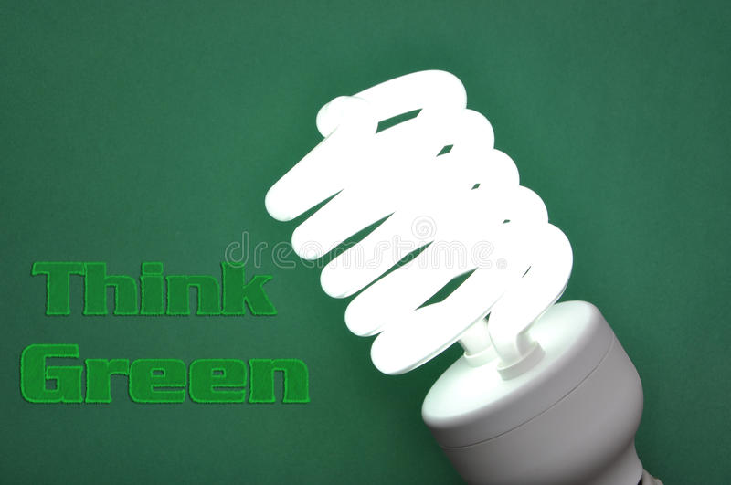 Download Think green concept stock illustration. Image of illustration - 14002854