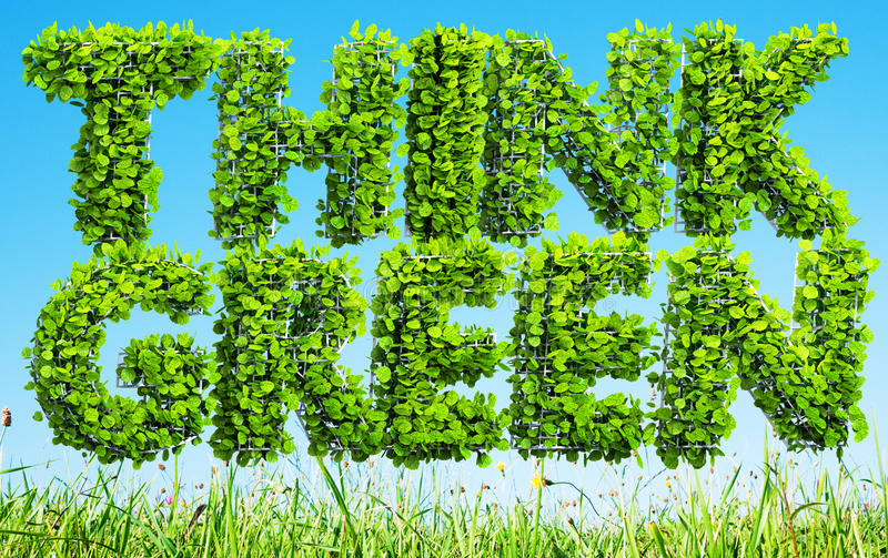Download Think green concept stock illustration. Image of grass - 83714521