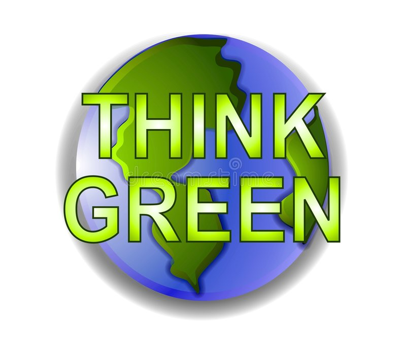 Download Think Green Planet Earth Icon Stock Illustration - Illustration: 3234652