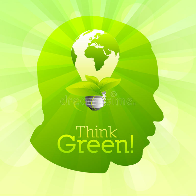 Think green vector silhouette