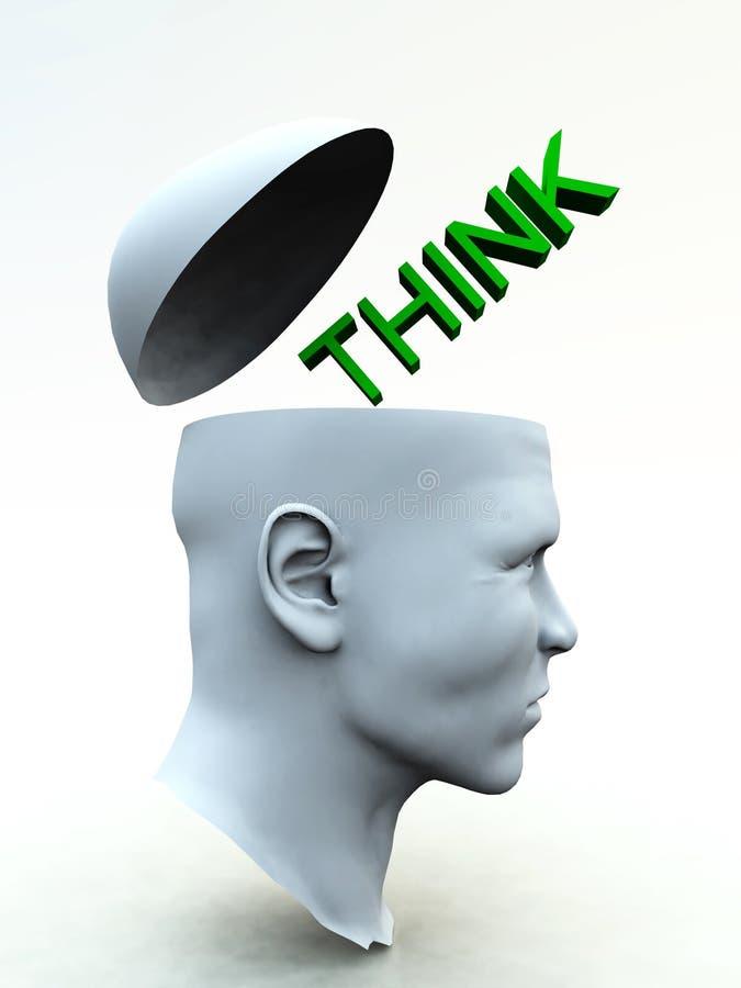 Think Head 5 Royalty Free Stock Photo
