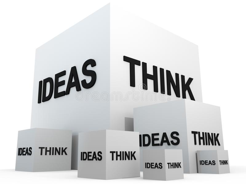 Download THINK AND IDEAS stock illustration. Image of cubic, thinking - 19466237