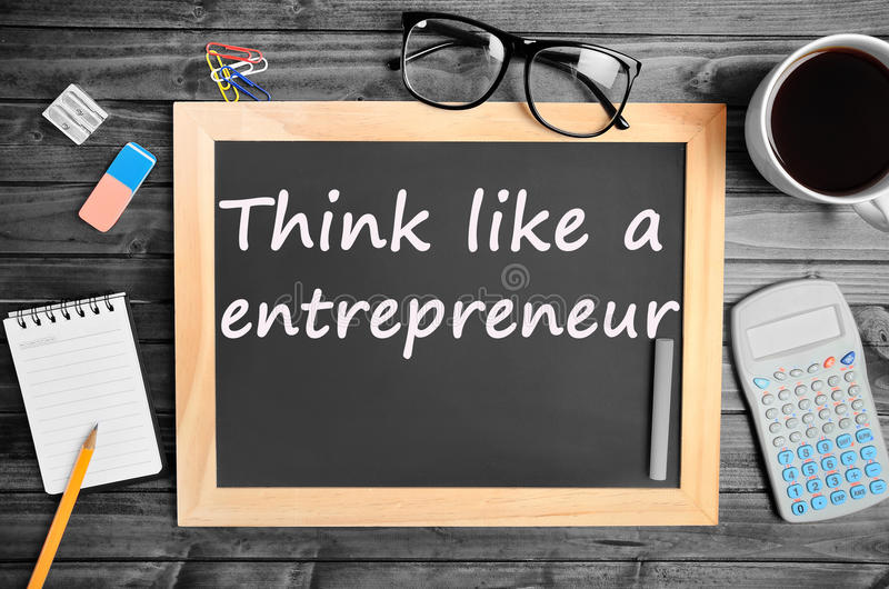 Think like a entrepreneur words royalty free stock photography