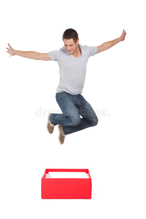 Download Think out of the box stock image. Image of jumping, liberty - 27807231