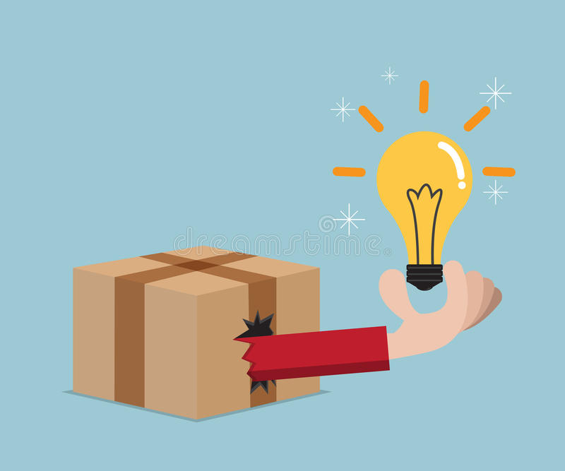 Think out of box concept stock illustration