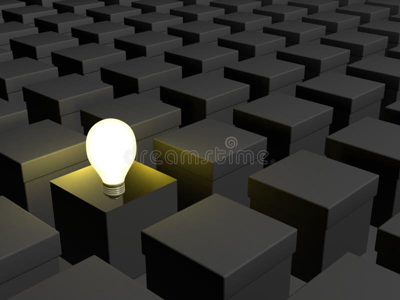 Download Think outside the box 01 stock illustration. Illustration of imagination - 12863129