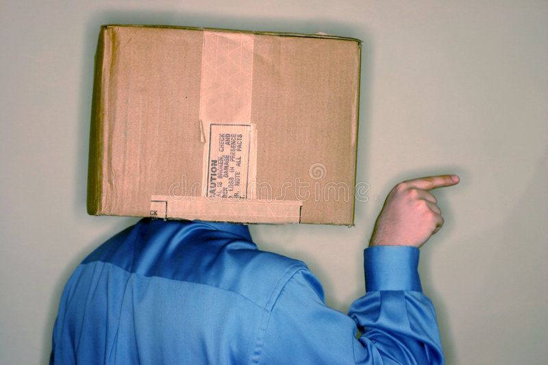 Think outside the box 2 stock photos