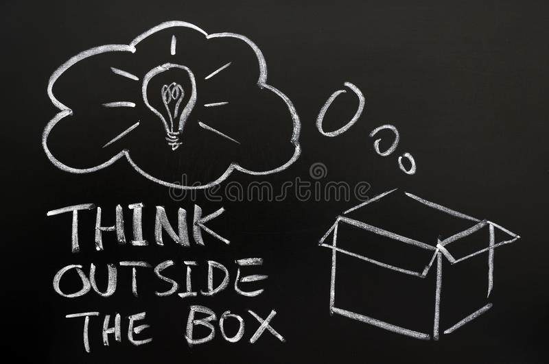 Download Think outside the box stock photo. Image of blackboard - 22733432