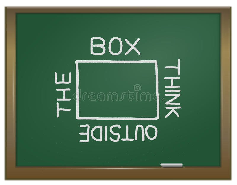 Download Think outside the box. stock illustration. Image of opinion - 23197494