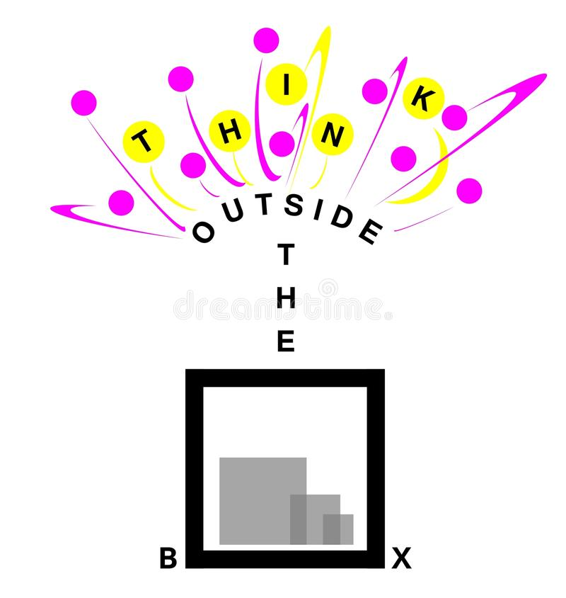 Download Think outside the box stock illustration. Image of issues - 24117006