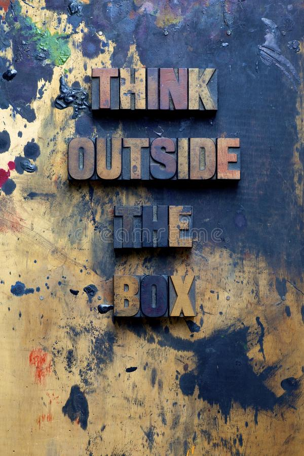 Download Think outside the box stock image. Image of letters, type - 26930923