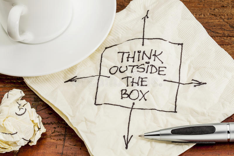 Download Think outside the box stock image. Image of advice, drawing - 29000751