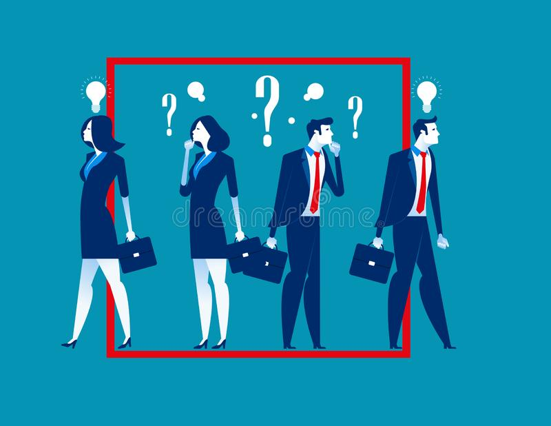 Think outside the box. Business person ideas. Concept business vector illustration stock illustration
