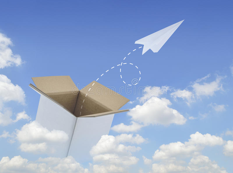 Think outside the box for business success royalty free stock photo