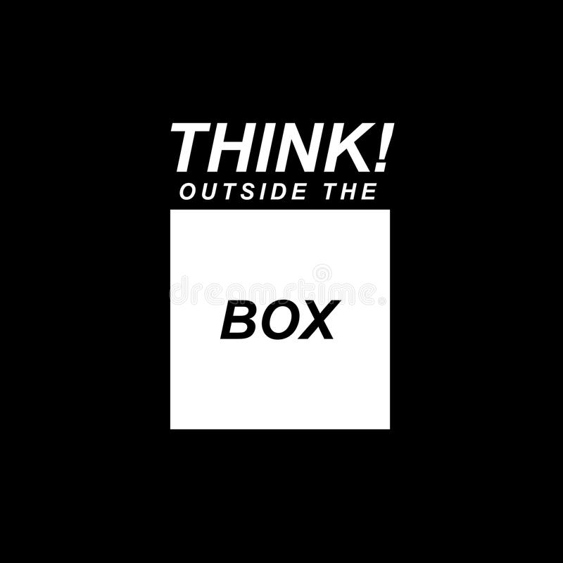 Think Outside The Box. Concept of think outside the box vector illustration