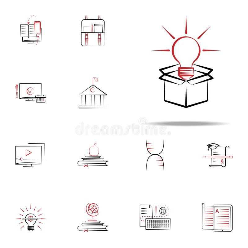 Think outside the box icon. Education icons universal set for web and mobile. On white background vector illustration