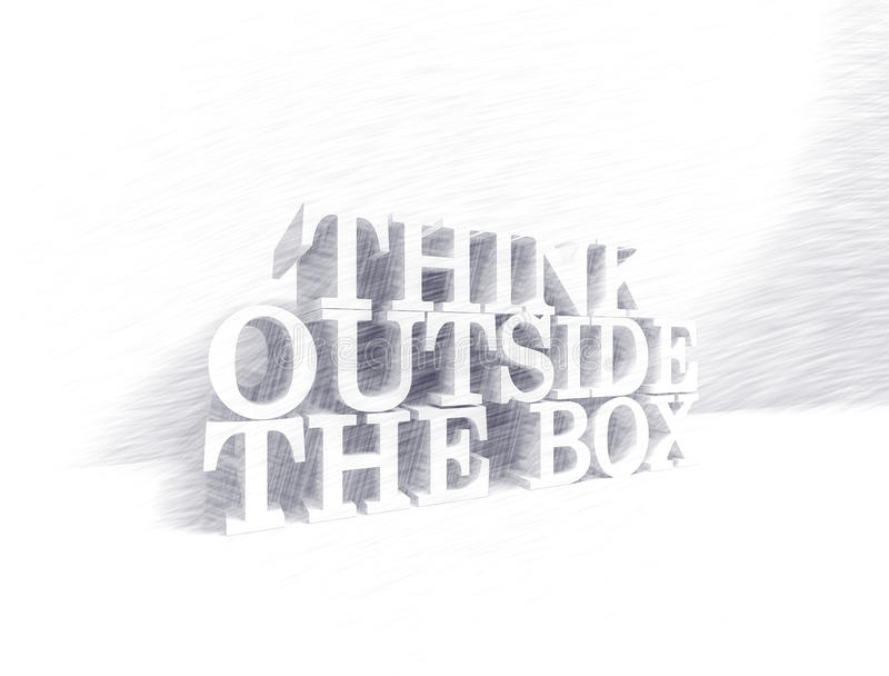 Think outside the box royalty free stock images