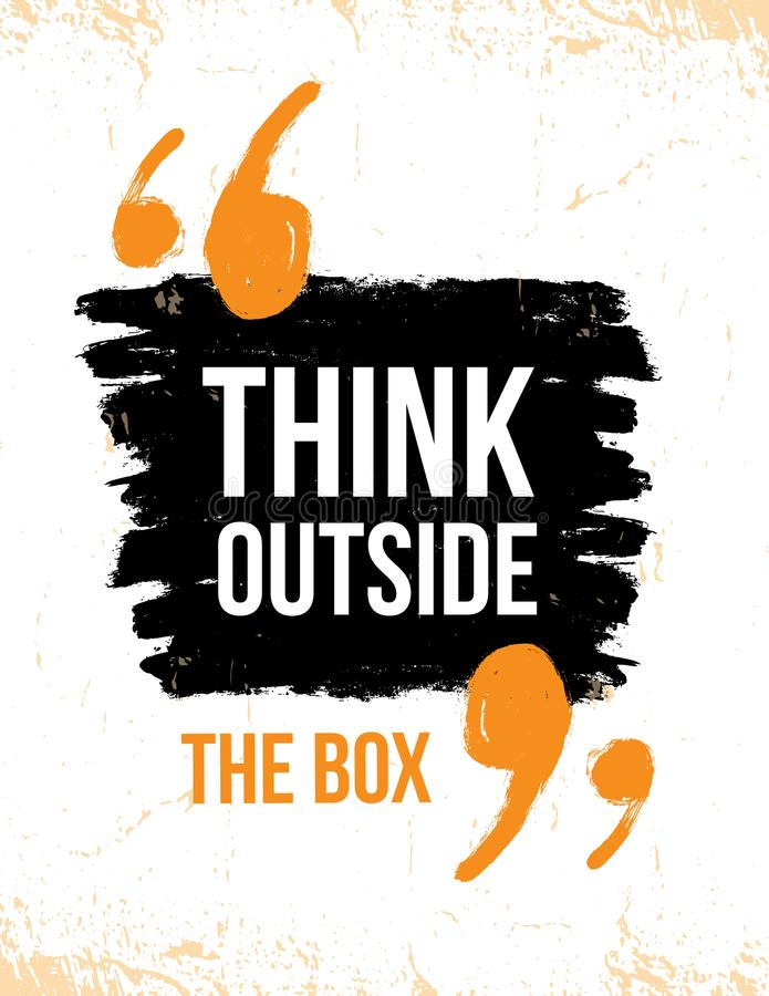 think outside the box typography poster vector grunge background rh dreamstime com grunge background vector 1280x720 vector distressed background