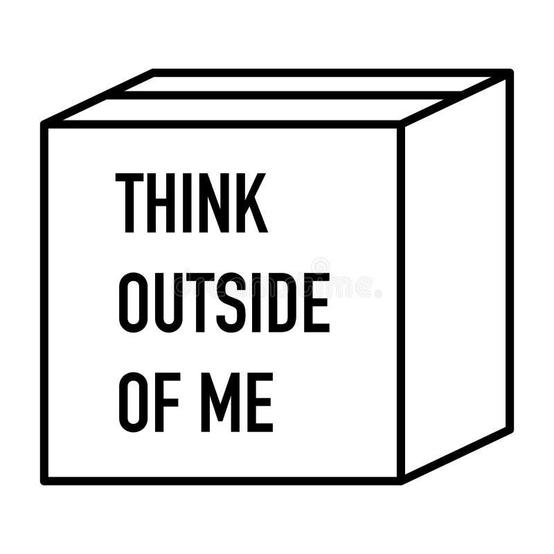 Think outside the box very creative idea. Vector vector illustration