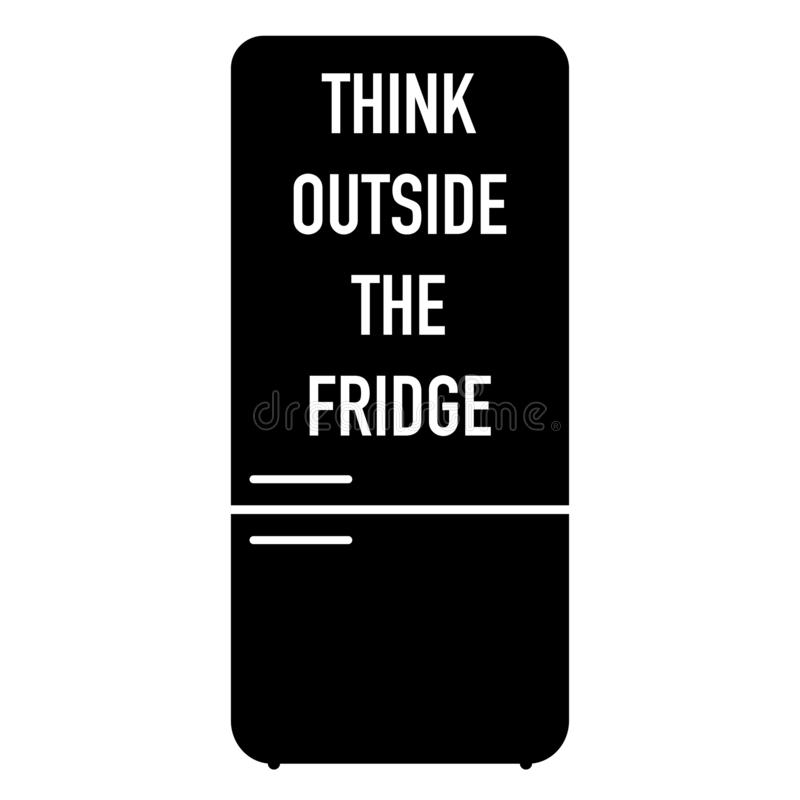 Think outside the fridge weight loss motivation stock illustration