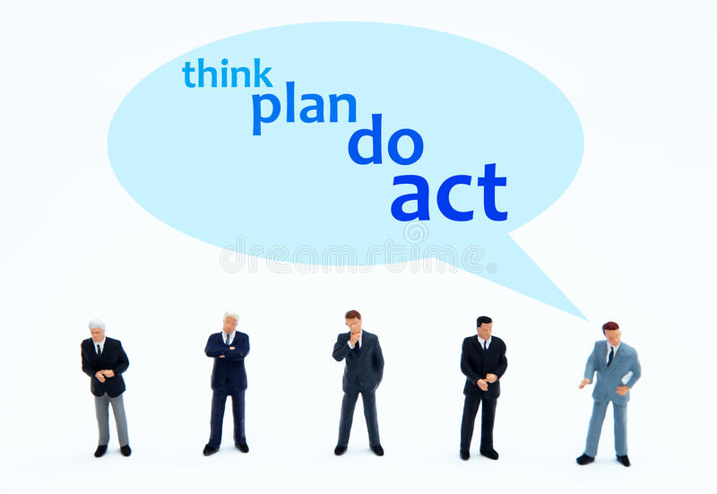 Think plan do act stock photography