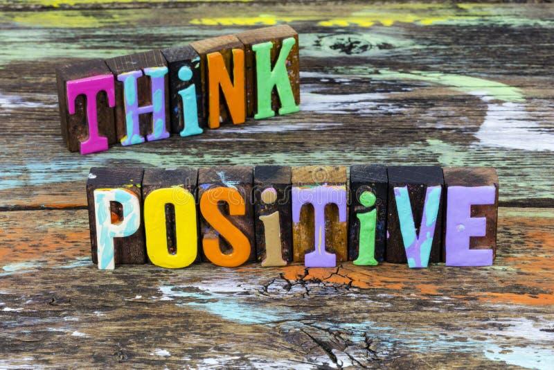 Think positive attitude thinking happiness motivation happy lifestyle success mindset royalty free stock image