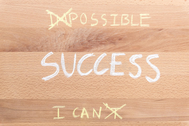 Think positive for success concept stock photography