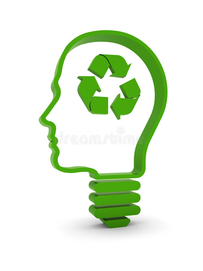 Think About Recycling vector illustration