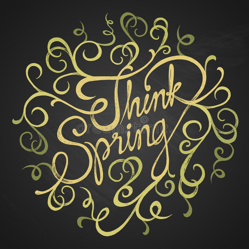 Think spring - quotes stock photos