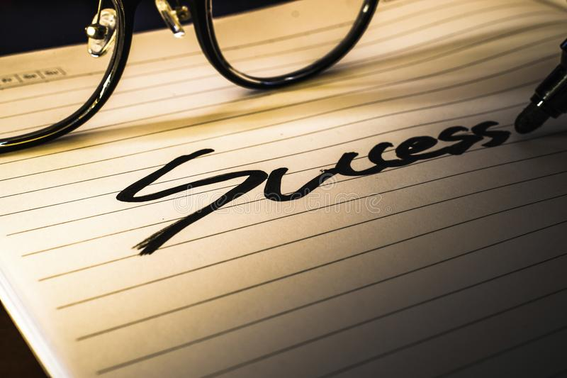 Think success will be success. stock image