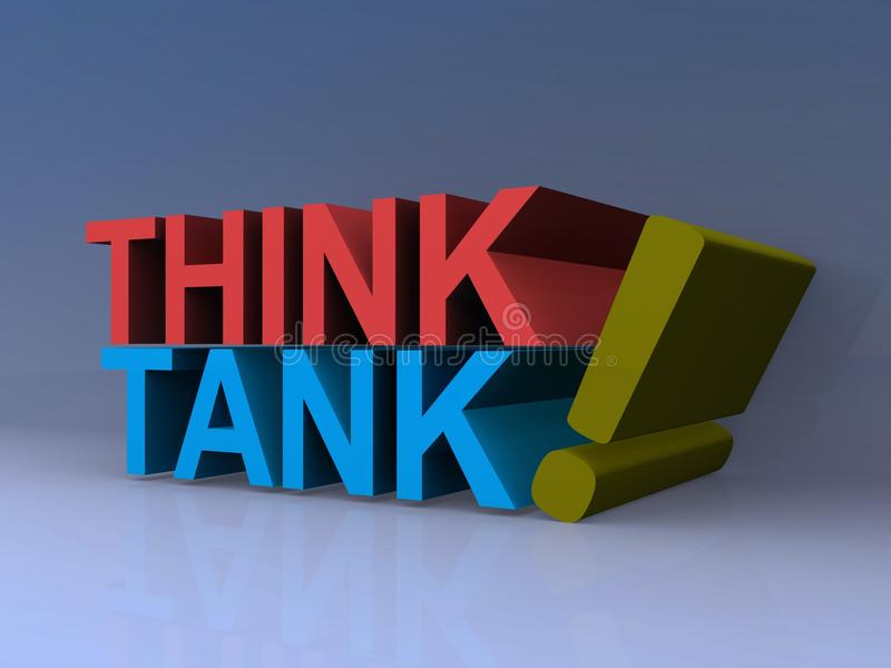 Think tank royalty free illustration