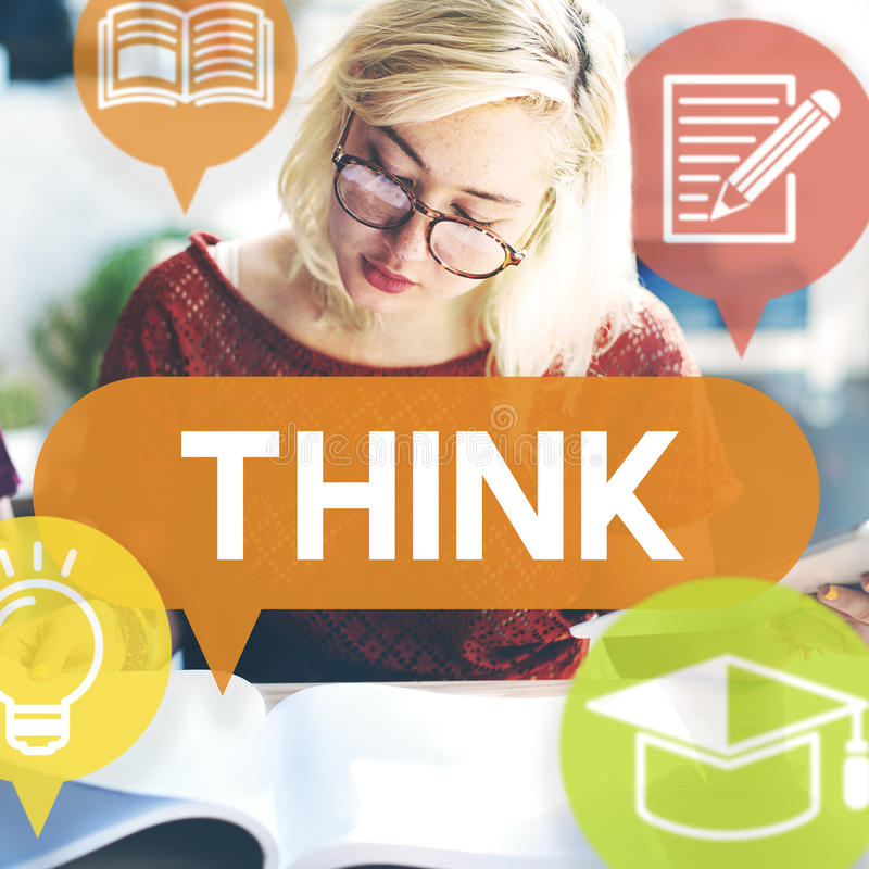 Think Thinking Visionary Determination Concept royalty free stock images