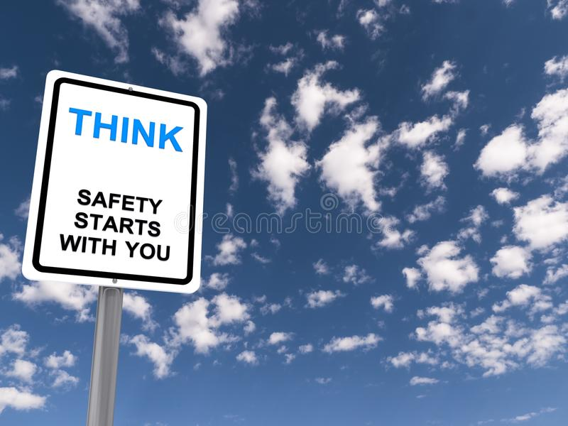 Think sign stock photography
