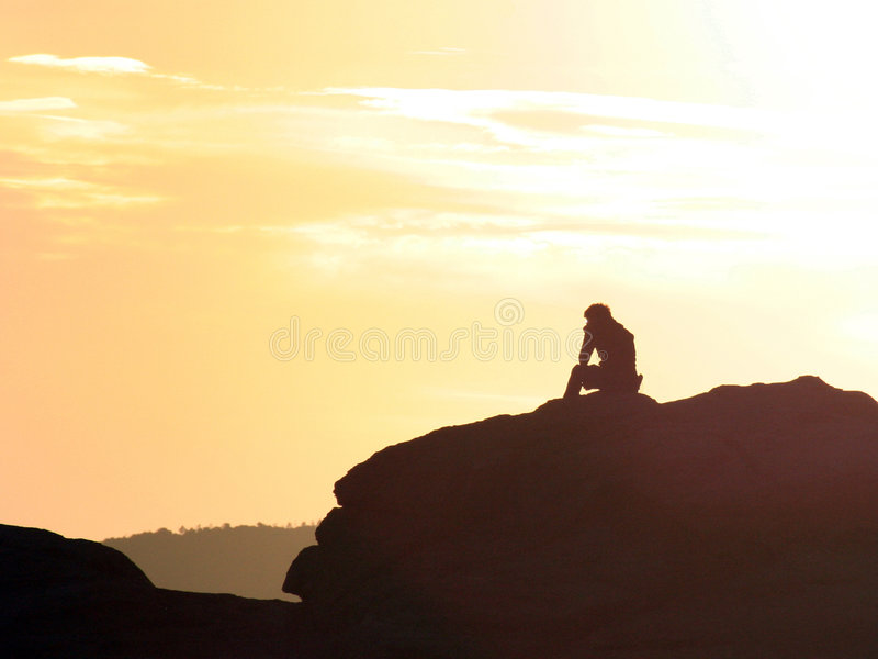 Thinker royalty free stock photos