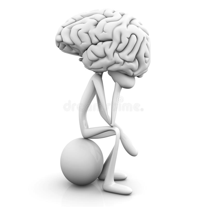 Download Thinker stock illustration. Image of cartoon, adult, contemplate - 22757281