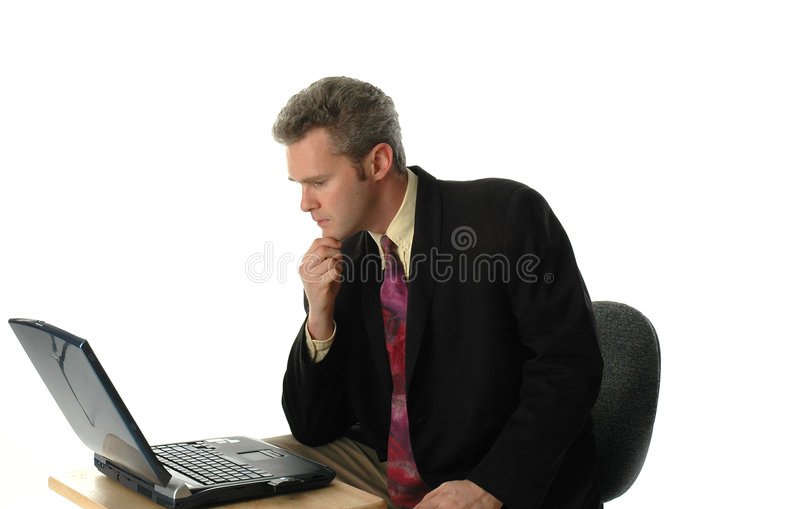 Download The Thinker stock photo. Image of jacket, laptop, coat, shirt - 36256