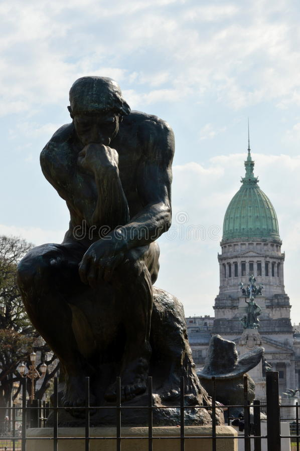 thinker fotografia de stock