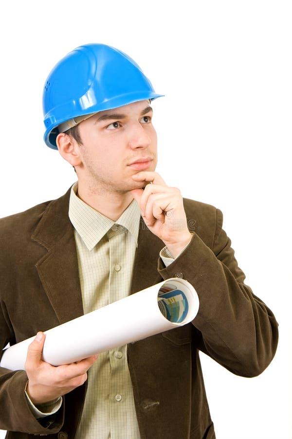 Thinker architect stock image