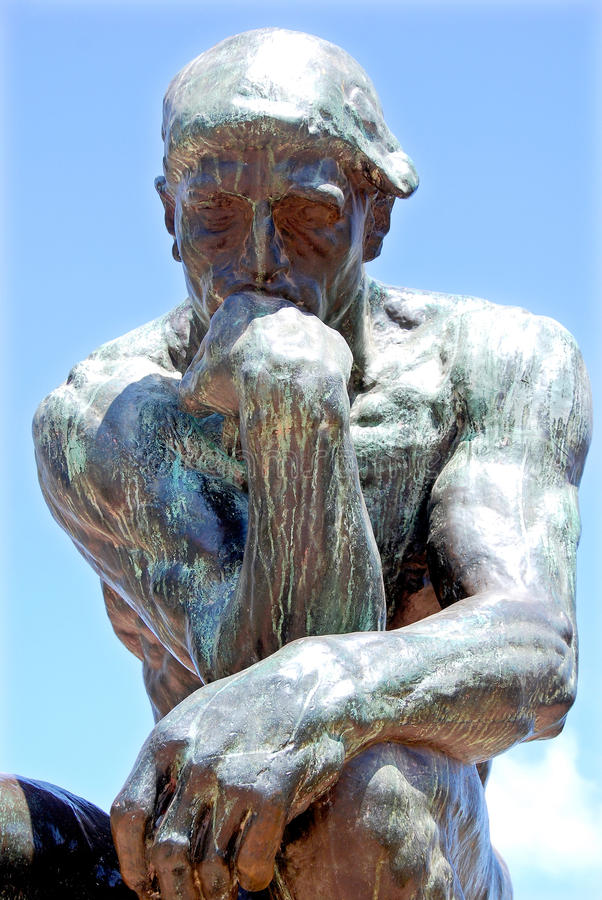 The Thinker stock images
