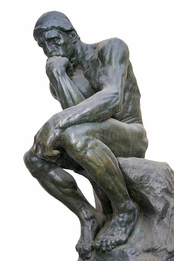 The Thinker - one of the most famous sculptures by Auguste Rodin.  royalty free stock photo