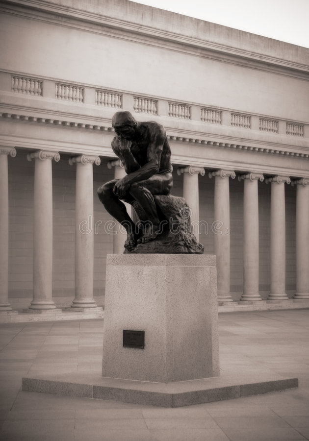 Download The Thinker by Rodin editorial stock image. Image of greek - 3301904