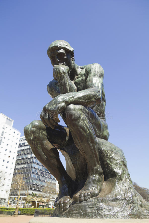 The Thinker by Rodin, Buenos Aires, Argentina. stock images