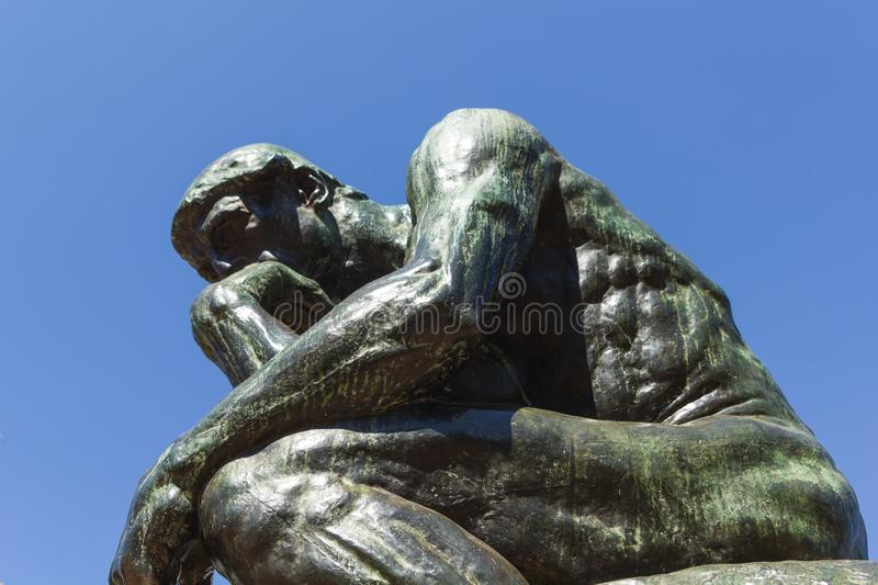 The Thinker by Rodin-second cast in the original cast and signed by Rodin himself. Buenos Aires, Argentina stock photos