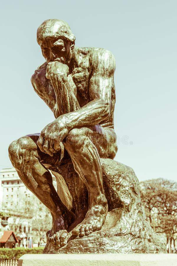 The Thinker by Rodin. BUENOS AIRES, ARGENTINA royalty free stock photography